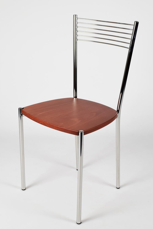 Tommychairs-Sedia-cucina-Elegance-in-acciaio-cromato-e-seduta-in-legno miniatuur 10