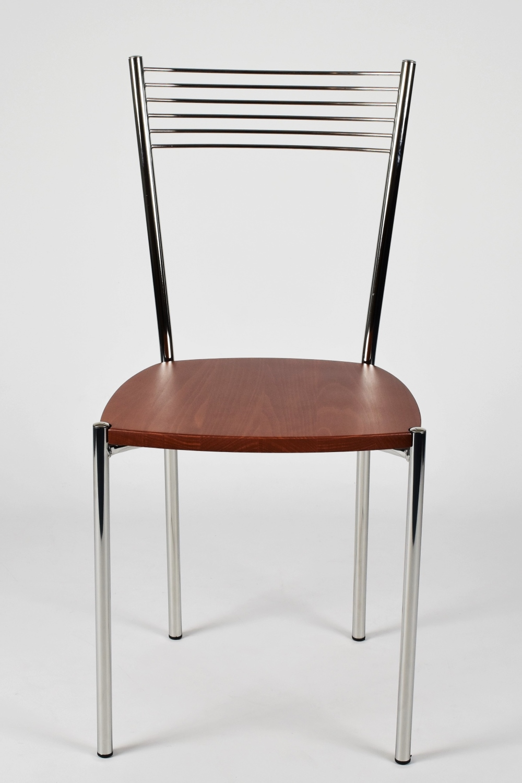 Tommychairs-Sedia-cucina-Elegance-in-acciaio-cromato-e-seduta-in-legno miniatuur 11