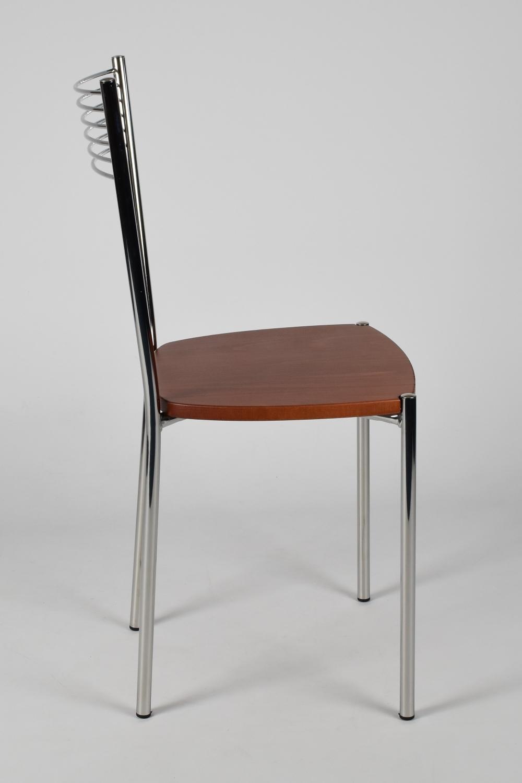 Tommychairs-Sedia-cucina-Elegance-in-acciaio-cromato-e-seduta-in-legno miniatuur 12