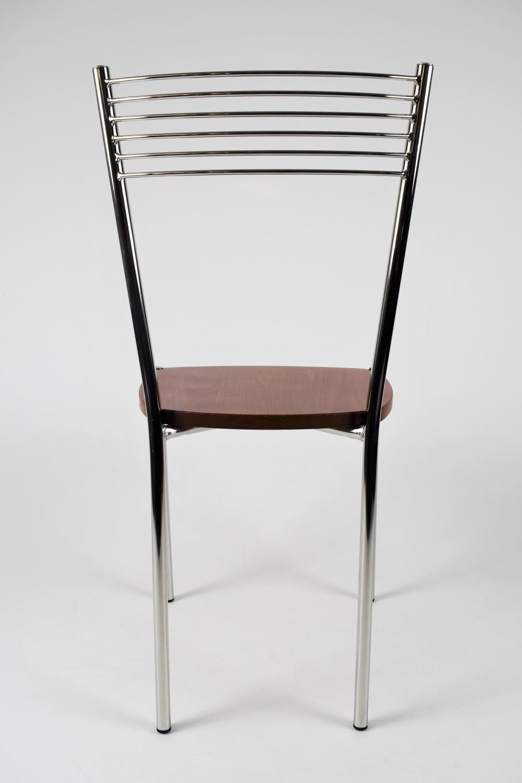 Tommychairs-Sedia-cucina-Elegance-in-acciaio-cromato-e-seduta-in-legno miniatuur 13