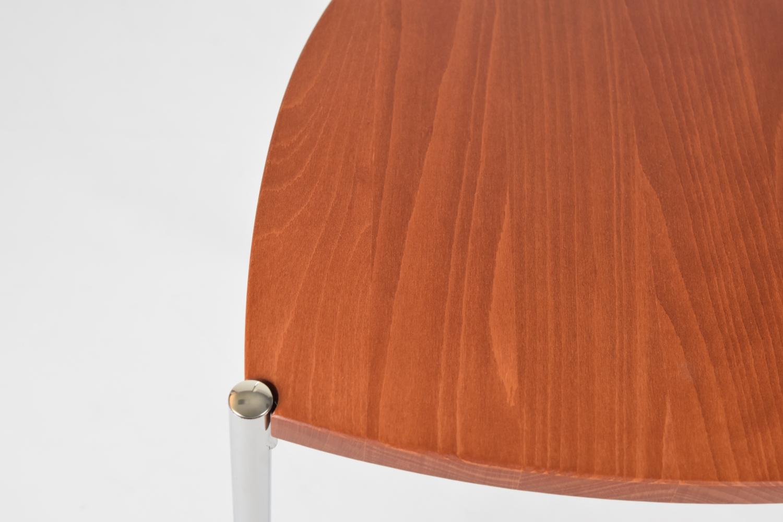 Tommychairs-Sedia-cucina-Elegance-in-acciaio-cromato-e-seduta-in-legno miniatuur 15