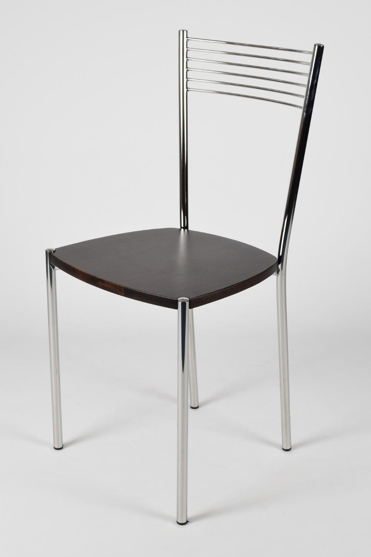 Tommychairs-Sedia-cucina-Elegance-in-acciaio-cromato-e-seduta-in-legno miniatuur 17