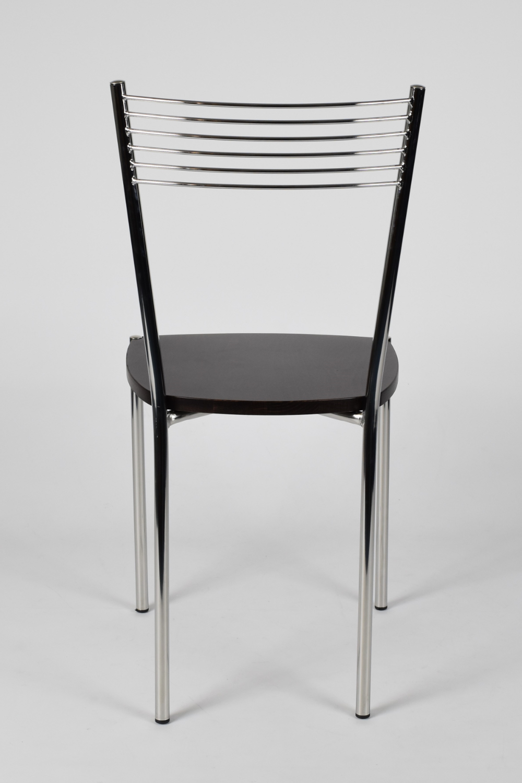 Tommychairs-Sedia-cucina-Elegance-in-acciaio-cromato-e-seduta-in-legno miniatuur 20